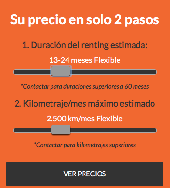 Ofertas Renting Flexible - 13 a 24 meses y 2.500 kms x mes