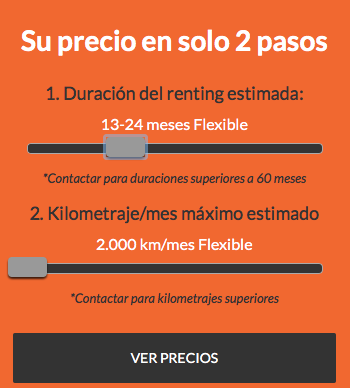 Ofertas Renting Flexible - 13 a 24 meses y 2.000 kms x mes
