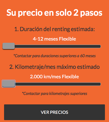 Ofertas Renting Flexible - 4 a 12 meses y 2.000 kms x mes