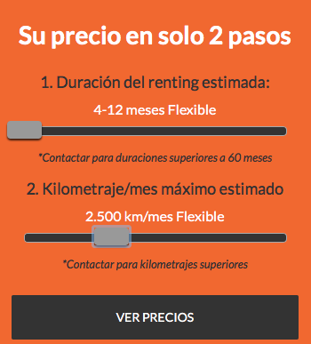 Ofertas Renting Flexible - 4 a 12 meses y 2.500 kms x mes